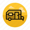 camping, car, home, trailer, travel, van, vehicle icon