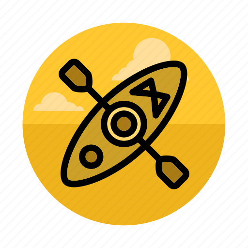 canoe, kayak, outdoor, rafting, river, sport, water icon