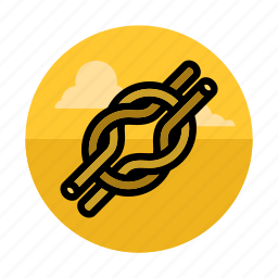 knot, mountaineering, node, outdoors, rope, sport, string icon