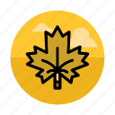 canada, ecology, forest, leaf, maple, nature, tree icon