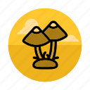 food, forest, fungus, gathering, mushroom, mushrooms, outdoors icon