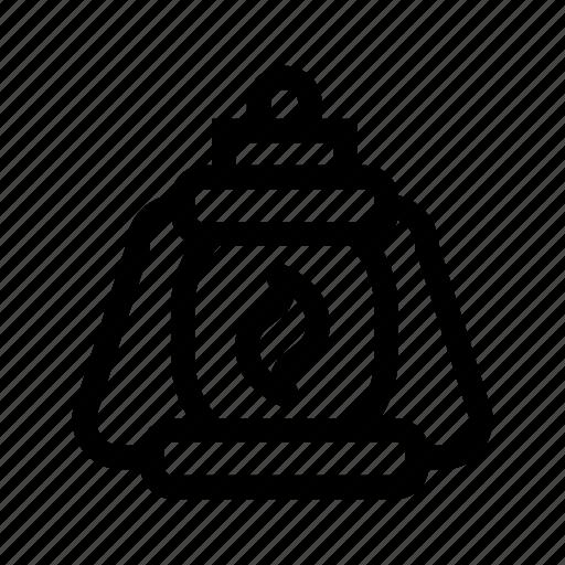 camping, illumination, lantern, light, tool icon