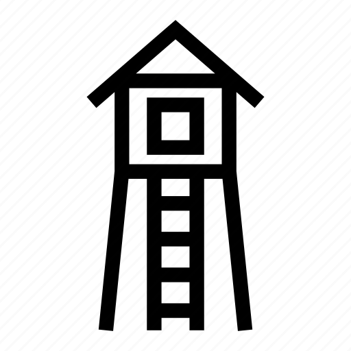cabin, camping, lodge, outpost, watch tower icon