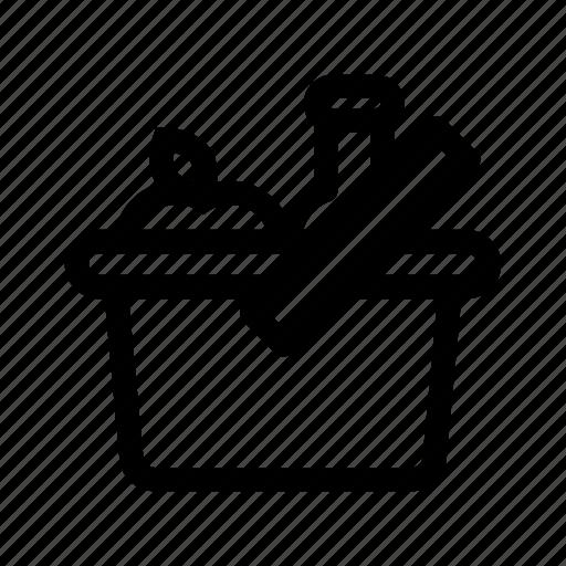 basket, camping, food, picnic, picnic basket icon