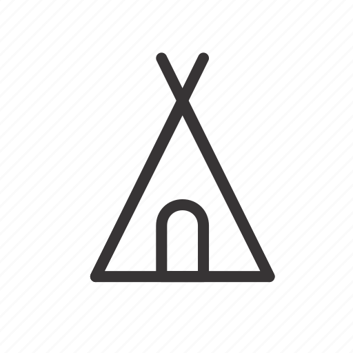 camp, camping, ight, indian, rest, sleep, tent icon