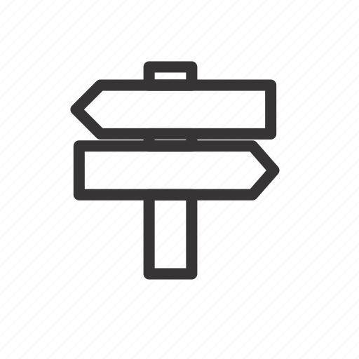 camping, direction, forest, holiday, sign, travel icon
