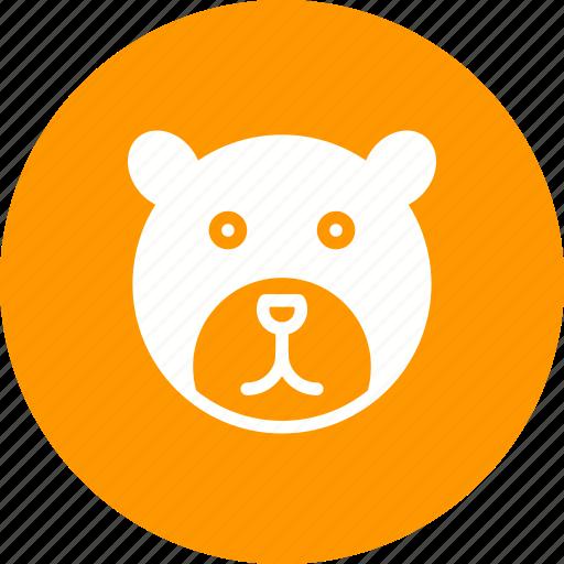 bear, bears, brown, head, polar, tree, wildlife icon