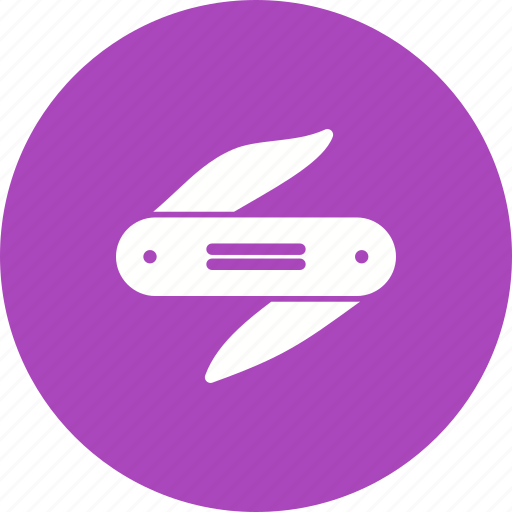 army, equipment, knife, metal, pocket, pocketknife, steel icon