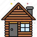 cabin, camp, house, hut, woods icon
