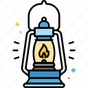 camping, lantern, light, outdoor icon
