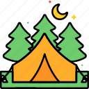 camp, campsite, nature, outdoor icon