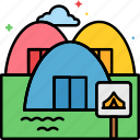 campsite, nature, outdoor, reservation icon