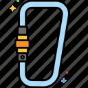 carabiner, clibing, safety, survival icon