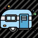 caravan, camping, transport, camp icon