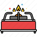camping, cooking, gas, stove icon