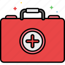 aid, first, first aid, kit, medic icon