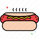 dog, fastfood, food, hot, hot dog icon