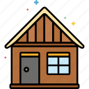 hut, cabing, camping, house