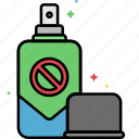 bug, bug spray, insect, repellent, spray icon