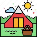 camp, campsite, kids, summer icon