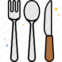 cutleries, fork, kitchen, knife, spoon, utensils icon