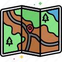 directions, location, map, navigation icon