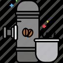 coffee, espresso, handheld, maker, portable icon