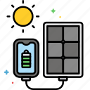 panel, portable, solar, charging, power