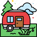 park, rv, trailer, campsite