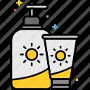 sunscreen, beach, protection, sun, sunblock icon