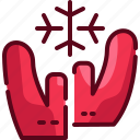 arctic, canada, mittens, scandinavia, snow, snowflake, winter icon