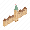 building, canada, canadian, capital, government, isometric, ontario