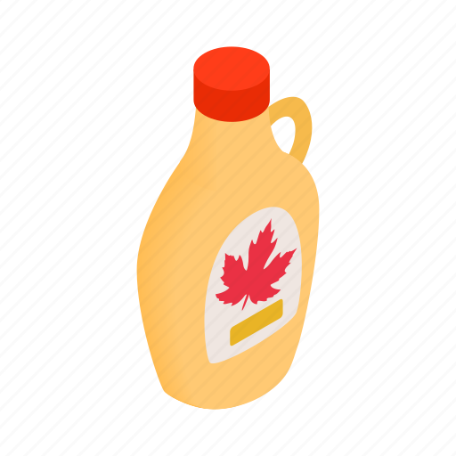 bottle, food, isometric, maple, pure, sweet, syrup icon