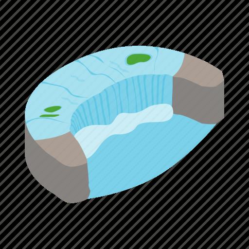 canada, fall, isometric, nature, niagara, water, waterfall icon