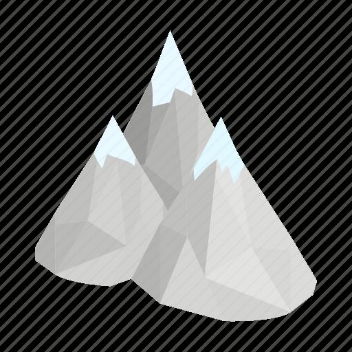 alberta, canada, isometric, landscape, mountain, nature, park icon