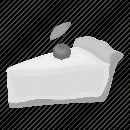 berry, cake, cherry, dessert, food, pie, piece icon