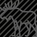 canada, deer, elk, nature, silhouette, stag, wildlife icon