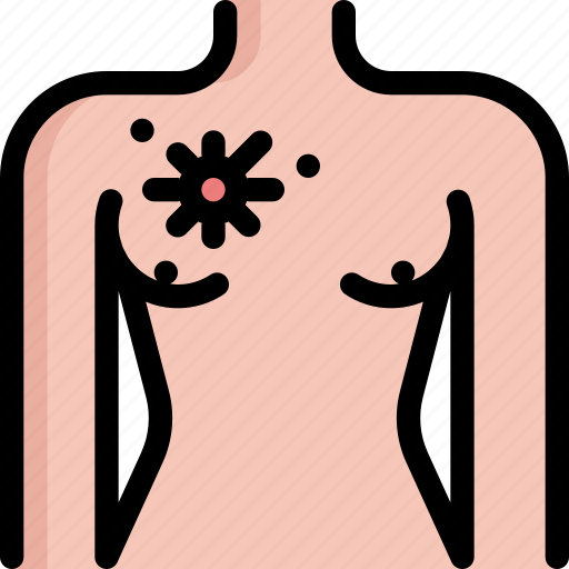 bacteria, breast, bug, cancer, infection, virus icon