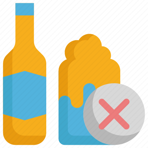 alcohol, beer, cancer, drink, no, virus, whisky icon