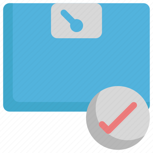 check, control, weight icon