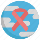 breast, cancer, day, earth, virus, world icon