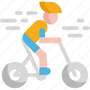 bicycle, bike, cancer, cycling, exercise, health, virus icon