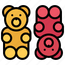 bear, candy, food, marmalade, shop, sweet, sweetness icon