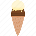 chocolat, dessert, frozen, ice cream, vanilla icon