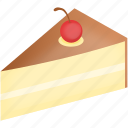 cake, cherry, chocolat, dessert, pie, vanilla icon