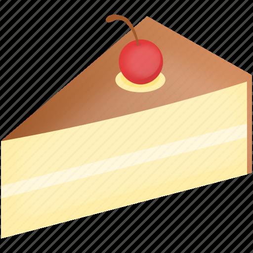 cake, cherry, chocolat, dessert, pie, vanilla icon