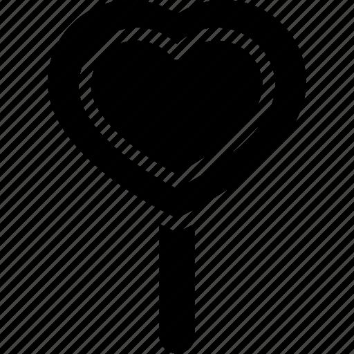 candy, candy cane heart, cane heart, heart candy, lollipop icon