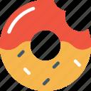 donut, doughnut, dunkin donut, glazed donut, krispy kreme icon