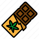 bar, cannabis, chocolate, dessert, sweet icon
