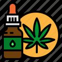 cannabidiol, cbd, dropper, marijuana, oil icon